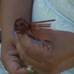 Making a cedar rose